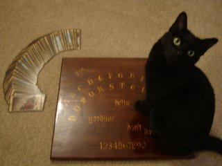 Tarot cards and Ouija board